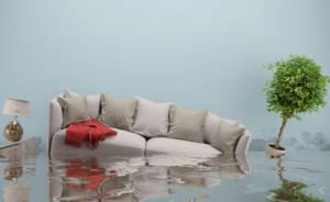 couch under water